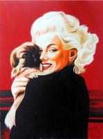 "Hector Monroy Signed ""Marilyn Monroe"" 24x32 Original Oil Painting Mixed Media On Masonite (PA LOA)"