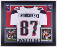 Rob Gronkowski Signed Patriots 35x43 Custom Framed Jersey Display (Beckett COA)