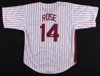 """Pete Rose Signed Phillies Jersey Inscribed """"4256"""" (JSA COA)"""