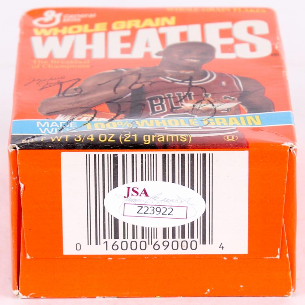 Michael Jordan Signed Mini Wheaties Cereal Box (JSA LOA