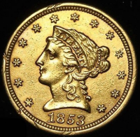 1853 $2.50 Liberty Head Quarter Eagle Gold Coin at PristineAuction.com