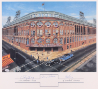 Roger Craig, Clem Labine & Johnny Podres Signed Dodgers 15x16 Ebbets Field Lithograph (SOP COA)