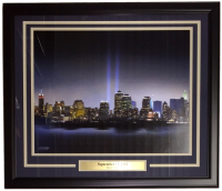 New York City September 11th 2001 Sky Line 22x27 Custom Framed Photo Display