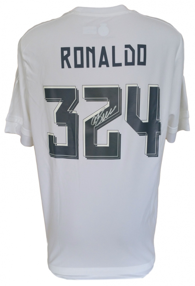 c1edb13fdd7 Cristiano Ronaldo Signed Real Madrid Adidas Soccer Jersey (Ronaldo COA)