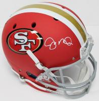 Joe Montana Signed 49ers Full-Size Red Matte Helmet (JSA COA)