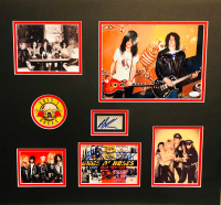 Guns N' Roses Band-Signed 23x25 Custom Framed Display with (8) Signatures Including Izzy Stradlin, Axl Rose, Slash, Gilby Clarke (JSA LOA & JSA COA)