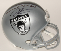 """Derek Carr Signed Raiders Full-Size Helmet Inscribed """"Welcome to the Black Hole!"""" (PSA COA)"""