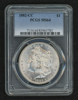 1882-CC Morgan Silver Dollar (PCGS MS 64)