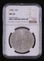 1886 Morgan Silver Dollar (PCGS MS62) at PristineAuction.com