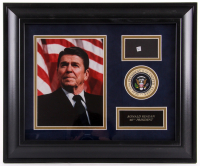 Ronald Reagan Custom Framed 14.5x17.5 Display with (1) Hand-Written Word From Letter (RR Auction LOA) at PristineAuction.com