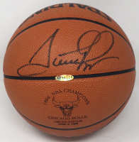 Scottie Pippen Signed 1996 Championship LE Basketball (UDA COA)