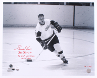 Gordie Howe Signed LE Red Wings 16x20 Photo with (4) Inscriptions (JSA COA) at PristineAuction.com