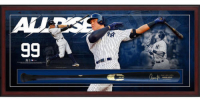 Aaron Judge Signed Yankees 49.5x23.5x3.25 Custom Framed Chandler Player Model Baseball Bat Shadowbox Display (Fanatics Hologram) at PristineAuction.com