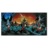 "Noah Signed ""The Sorcerer's Dream"" Limited Edition 72x36 Giclee on Canvas #6/10 at PristineAuction.com"