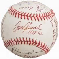 HOF Baseball Signed by (16) with Yogi Berra, Warren Spahn, Robin Roberts, Harmon Killebrew, Tom Seaver, Phil Rizzuto (JSA ALOA)