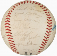 1962 NL All-Star Baseball Team-Signed by (25) with Roberto Clemente, Willie Mays, Hank Aaron, Stan Musial, Don Drysdale, Ernie Banks (JSA ALOA)
