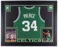 Paul Pierce Signed Celtics 35x43 Custom Framed Jersey (Beckett) at PristineAuction.com