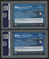 Lot of (2)  2017 Topps Aaron Judge Baseball Cards with  #287A RC &  #287B (PSA Authentic) at PristineAuction.com