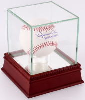 """Mariano Rivera Signed OML Baseball Inscribed """"Last to Wear #42"""" with High Quality Display Case (PSA)"""
