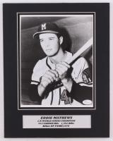 Eddie Mathews Signed Braves 11x14 Custom Matted Photo Display (JSA COA)