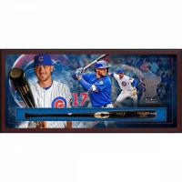 Kris Bryant Signed 23.5x49.5x3.5 Custom Framed Chandler Player Model KB17 Baseball Bat Shadowbox Display (MLB Hologram & Fanatics Hologram) at PristineAuction.com