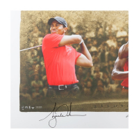 "Wayne Gretzky, Michael Jordan & Tiger Woods Signed ""Icons of Sport"" 34x57"" Limited Edition Custom Framed Print (UDA COA) at PristineAuction.com"