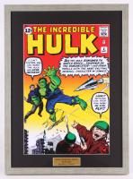 """Stan Lee Signed """"The Incredible Hulk"""" 16.75x22.75 Custom Framed Print (PSA COA)"""