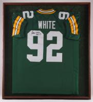 Reggie White Signed Packers 33x37 Custom Framed Jersey Display (JSA LOA)