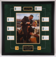 1968 Super Bowl II Champions Packers 32.5x32.5 Custom Framed Photo Display Signed By (8) With Bart Starr, Willie Davis, Ray Nitschke (JSA ALOA)