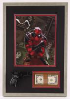 "Marvels ""Deadpool"" 17.75x25.25 Custom Framed Display with Movie Prop Money"