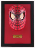 "Stan Lee Signed ""Spider-Man"" 13x18 Custom Framed Mask (PSA COA)"