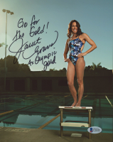 """Janet Evans Signed 8x10 Photo Inscribed """"Go for the Gold!"""" & """"4x Olympic Gold"""" (Beckett COA)"""