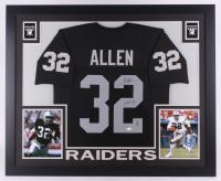 "Marcus Allen Signed Raiders 35x43 Custom Framed Jersey Inscribed ""HOF 03"" (JSA COA & Allen Hologram)"