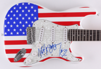 "Rascal Flatts Band-Signed Full-Size ""American Flag"" Electric Guitar with (3) Signatures Including Gary LeVox, Jay DeMarcus & Joe Don Rooney (JSA COA)"