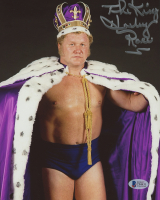 "Harley Race Signed 8x10 Photo Inscribed ""The King"" (Beckett COA)"