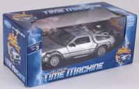 "Michael J. Fox & Christopher Lloyd Signed ""Back to the Future II"" DeLorean 1:24 Diecast Car (JSA COA)"
