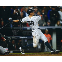 "Aaron Judge Signed New York Yankees 16x20 Photo Inscribed ""2017 AL ROY"", "".284"", ""114 RBI's"", ""52 HR'S"" & ""127 BB'S"" (Fanatics Hologram & MLB Hologram) at PristineAuction.com"