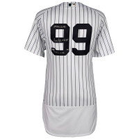 """Aaron Judge Signed Yankees Limited Edition Jersey Inscribed """"2017 AL ROY"""", """".284"""", """"114 RBI's"""", """"52 HR's"""" & """"127 BB's."""" (Fanatics Hologram)"""