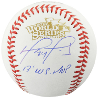 "David Ortiz Signed 2013 World Series Baseball Inscribed ""13 WS MVP"" (Fanatics Hologram) at PristineAuction.com"