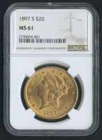 1897-S $20 Liberty Head Double Eagle Gold Coin (NGC MS 61)