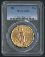 1926 $20 Saint-Gaudens Double Eagle Gold Coin - Type 3 with Motto (PCGS MS 62)