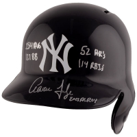 "Aaron Judge Signed New York Yankees Full-Size Batting Helmet Inscribed ""2017 AL ROY"", "".284"", ""114 RBI's"", ""52 HR's"" & ""127 BB's"" (Fanatics Hologram & MLB Hologram) at PristineAuction.com"