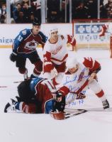 "Darren McCarty Signed Red Wings 16x20 Photo Inscribed ""Sweet Revenge"" & ""3/26/97"" (JSA COA) at PristineAuction.com"