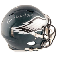 "Carson Wentz Signed Philadelphia Eagles Full-Size Authentic On-Field Speed Helmet Inscribed ""AO1"" (Fanatics Hologram) at PristineAuction.com"