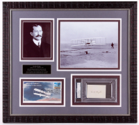 Orville Wright Signed 20x22.5 Custom Framed Cut Display (PSA Encapsulated - Autograph Grade 7)