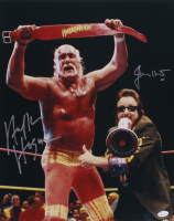 Hulk Hogan & Jimmy Hart Signed WWE 16x20 Photo (JSA COA)
