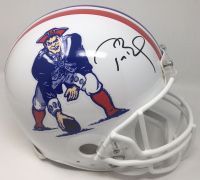 Tom Brady Signed New England Patriots Throwback Full-Size Authentic On-Field Helmet (TriStar Hologram)