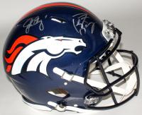 John Elway & Peyton Manning Signed Broncos Full-Size Authentic On-Field Speed Helmet (Fanatics Hologram)