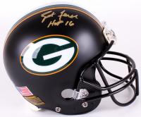 """Brett Favre Signed Packers Full-Size Authentic On-Field Matte Black Helmet Inscribed """"HOF 16"""" (Radtke COA)"""