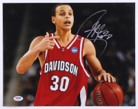 Stephen Curry Signed Davidson Wildcats 11x14 Photo (PSA COA) at PristineAuction.com